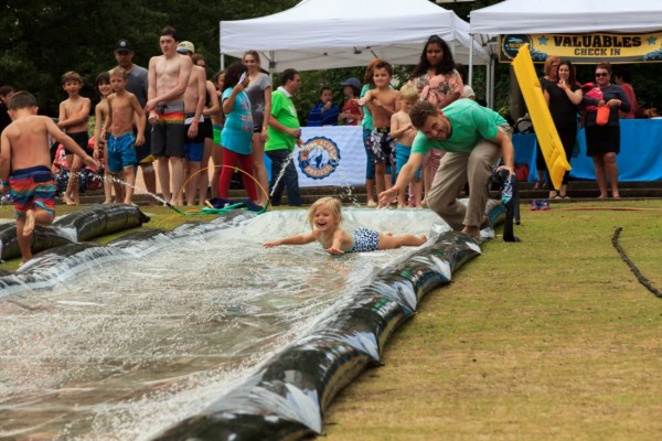 Two 100' Slip and Slides at After Party